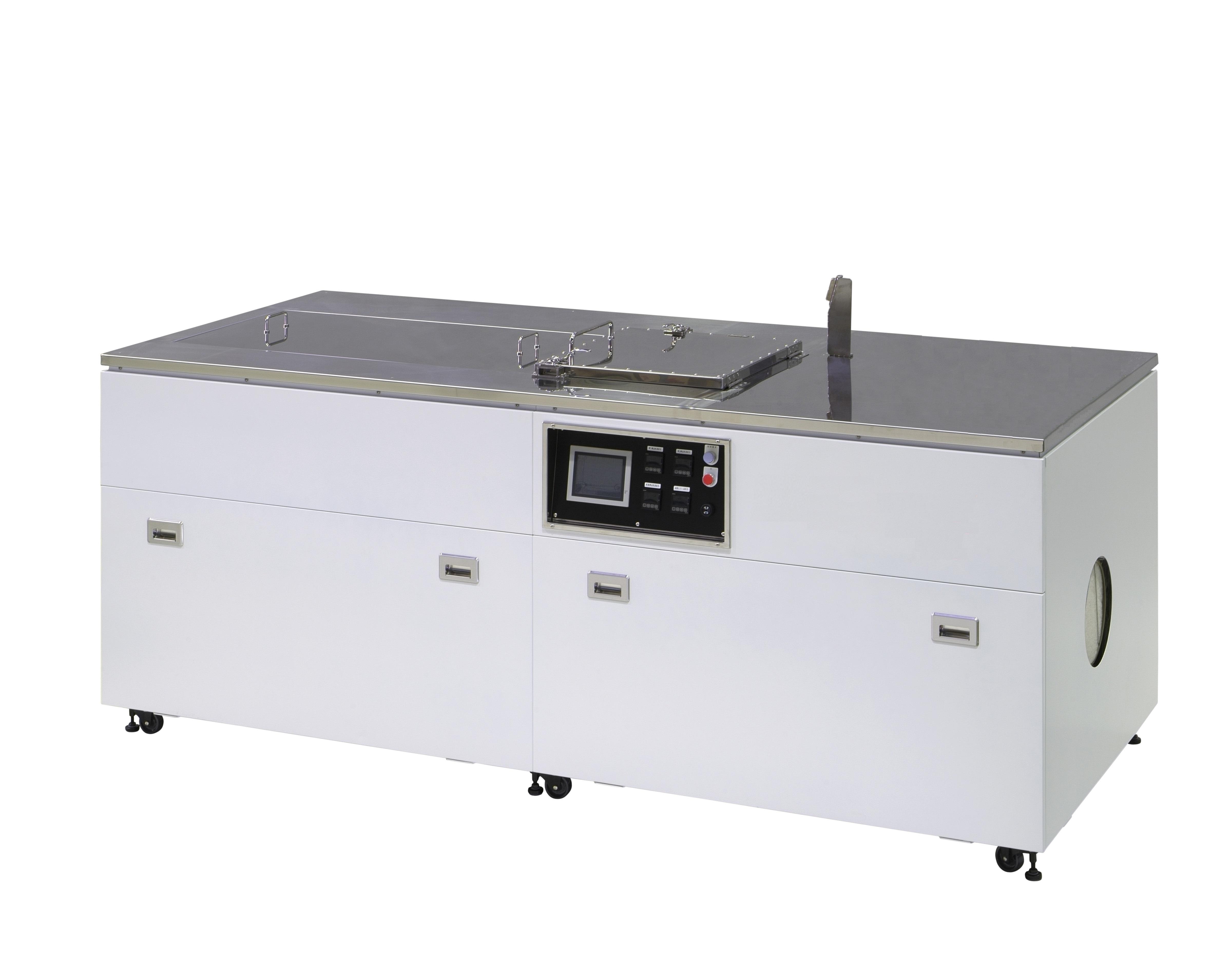 【事例紹介】炭化水素系3槽式超音波洗浄装置(吸引乾燥式)